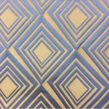 Купить модную, современную, стильную ткань для штор Арт: 2549/70. Итальянский каталог ткани. Асимметричные ромбы синих оттенков и бронзы с эффектом 3D