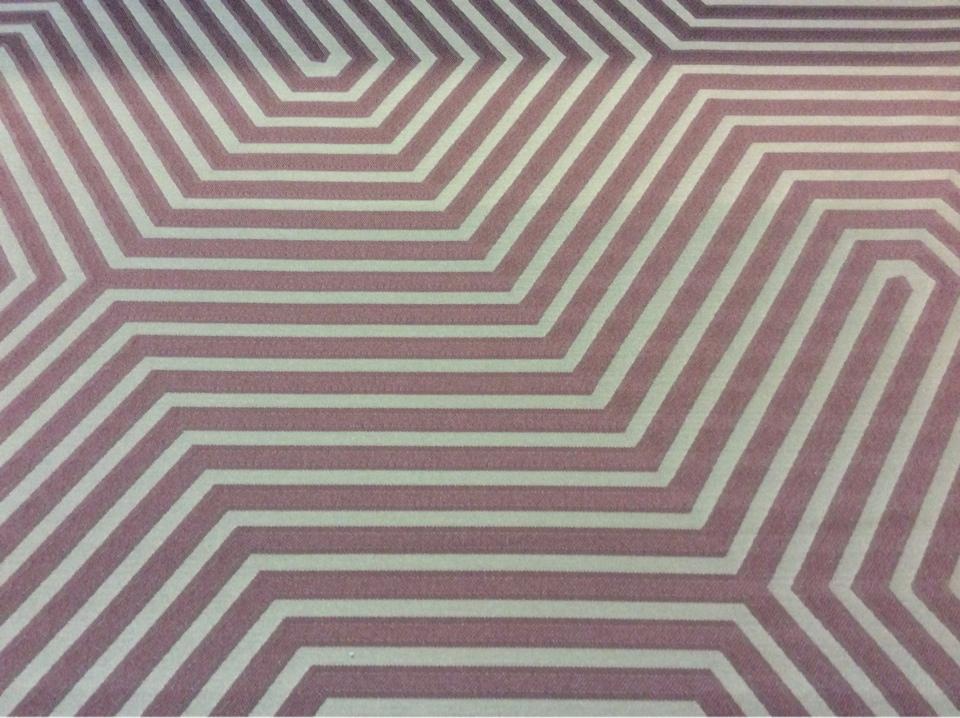 Портьерная атласная ткань в современном стиле Арт: 2542/39. Итальянский каталог ткани. Геометрический рисунок коричневого оттенка и цвета махагон