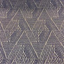 Портьерная ткань из рифлёного атласа Арт: 2537/70. Фото материала для красивых, современных штор. Геометрический рисунок в синих и золотистых оттенках