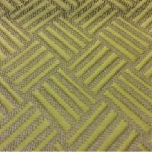 Итальянская портьерная ткань с геометрическим рисунком в Москве Арт: 2536/92. Фото итальянского каталога ткани. Геометрический объёмный рисунок горчичного оттенка