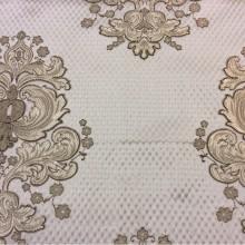 Элитная ткань в Москве в стиле барокко, ампир, Италия Арт: 1320B, col 1. Итальянский каталог портьерной ткани. Шоколадно-золотистые «дамаски» на сером фоне