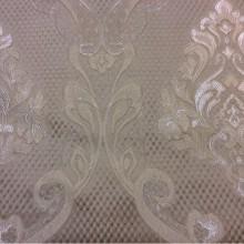 Заказать элитную ткань в стиле барокко, ампир, классика Арт: 1320A, col 9. Итальянский каталог портьерной ткани для штор. Ажурные золотисто-серебристые «дамаски» на бежевом фоне