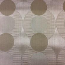 Плотная атласная ткань с ребристой фактурой с добавлением хлопка Арт: Libra, col 021. Бельгийский каталог портьерной ткани. Круги бежевого, серебристого, бронзового оттенков