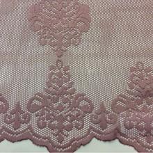 Ажурная, кружевная ткань Julyetta 1147, col 501. Турция, тюль. Ажурная сетка с кружевными «дамасками» тёмно-розового оттенка