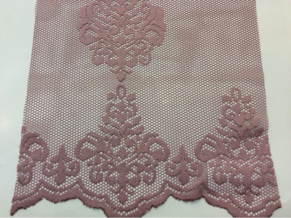 """Ажурная, кружевная ткань Julyetta 1147, col 501. Турция, тюль. Ажурная сетка с кружевными """"дамасками"""" тёмно-розового оттенка"""