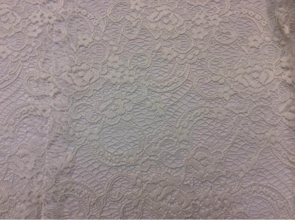 Ажурная ткань (кружево) ванильного оттенка Liana 1101, col 102. Турция, каталог ткани.