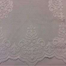Ажурная сетка с кружевными «дамасками» белого цвета Julyetta 1147, col 101. Турция, тюль для штор.