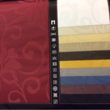 Ткань блэкаут под атлас с неброскими цветами. Коллекция ткани Luna, Европа, Испания, портьерная, плотная, огнеупорная.