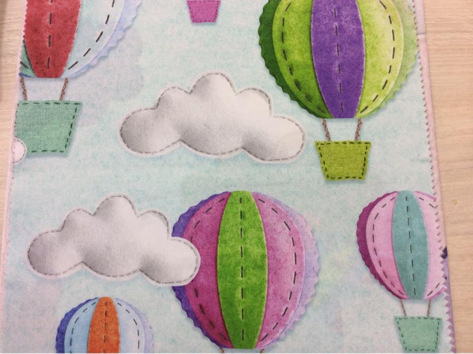 Купить ткань с детской тематикой в интернет-магазине Twister, col Turquesa 98. Испанский каталог ткани для детской. Воздушные шары