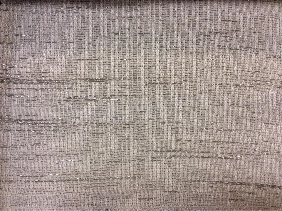 Экологичная портьерная ткань из льна, хлопка, с добавлением люрексной нити 2601/21. Немецкий каталог ткани, портьерная ткань для штор. Бежево-серый оттенок