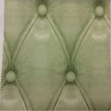 Купить ткань с объёмным рисунком в интернет-магазине Geometric, col 19. Испанский каталог портьерной ткани для штор. Имитация кожаного покрытия салатового оттенка