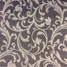 Купить жаккардовую портьерную ткань цвета венге с растительным орнаментом, Top Milana, col 180, Бе льгийский каталог портьерной ткани для штор на заказ.
