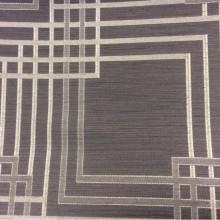 Заказать жаккардовую портьерную ткань цвета венге с геометрическим рисунком серого цвета, Top Mancy, col 180, Бельгийский каталог портьерной ткани.