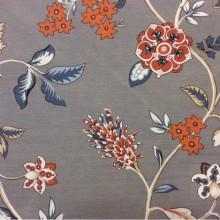 Купить в Москве красивую ткань из хлопка с ярким орнаментом в стиле пейсли Azov Pik, des: Camberley C, col: 07 Naranja, Испанский каталог портьерной ткани для штор.