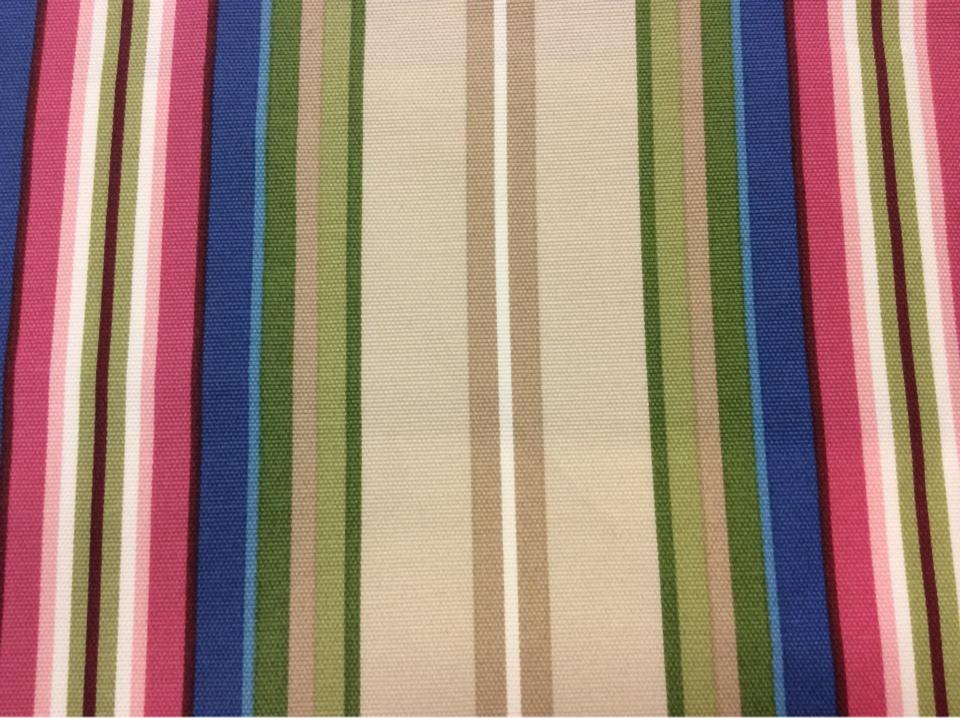 Купить красивую ткань из хлопка в яркую вертикальную полоску Azov Pik, des: Camberley B, col: 25 Rosa. Испанский каталог ткани для штор, портьерная ткань средней плотности. Классическая ткань в разноцветную полоску