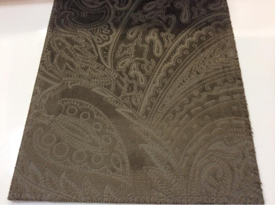 Заказать красивый бархат с теснённым орнаментом в стиле пейсли, Murcia, col 08, Бельгийский каталог ткани для штор на заказ.