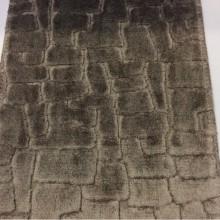 Заказать красивый бархат из натуральных волокон в стиле лофт, орнамент «под камень» тёмно-титанового цвета, Oltamar, col 05, Бельгия.