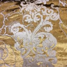 Купить блестящий бархат с теснённым растительным орнаментом, J100802D, col 5, Бельгийский каталог ткани для штор.