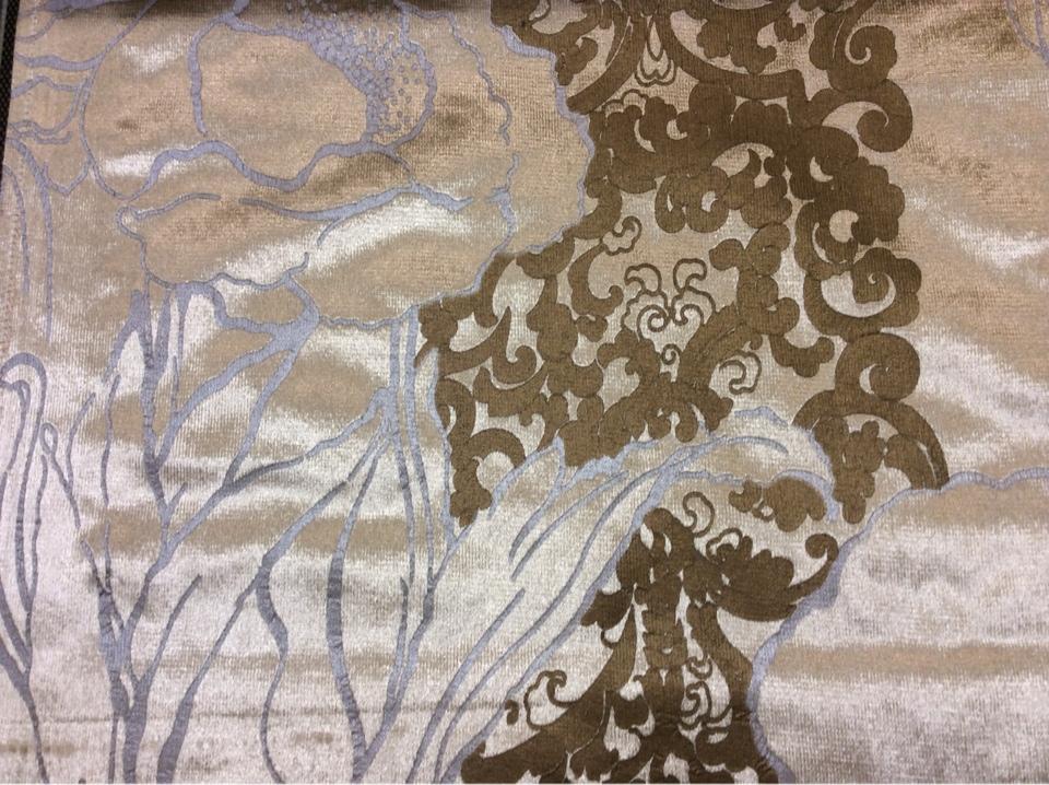 Блестящий бархат с тесненным растительным орнаментом, J100892D, col 16, Бельгийский каталог ткани для штор на заказ.