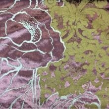 Блестящий бархат с теснённым растительным орнаментом, J100802D, col 20, Бельгийский каталог ткани для штор на заказ.