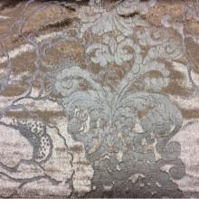 Купить блестящий бархат с теснённым растительным рисунком, J100802D, col 22, Бельгийский каталог ткани для штор на заказ.