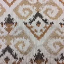 Заказать рельефную ткань в восточном стиле с вискозной нитью, Оттенки бежевого, карамели, шоколада, Высота 3 метра, Samarkand, col 12, Итальянский каталог портьерной ткани для штор на заказ.