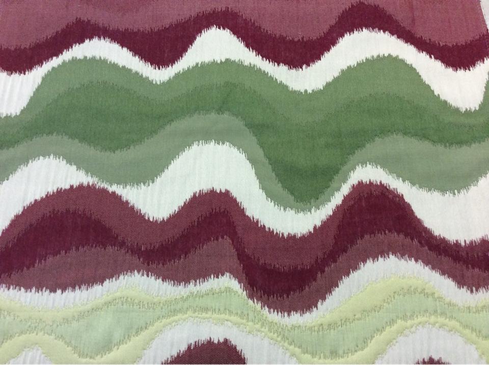 Рельефная ткань в восточном стиле с вискозной нитью на заказ в интернет-магазине, Гибкие абстрактные линии бежевого, бордового, зелёного, жёлтого оттенка, Высота 3 метра, Samarkand, col 06, Итальянский каталог плотной портьерной ткани для штор.