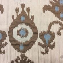 Заказать рельефную ткань в восточном стиле с вискозной нитью в Москве в интернет-магазине, Восточный орнамент в бежевых, голубых, коричневых оттенках, Высота 3 метра, Samarkand, col 16, Итальянский каталог.
