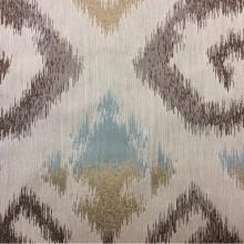 Заказать рельефную ткань в восточном стиле с вискозной нитью в интернет-магазине, Восточный орнамент в бежевых, голубых и коричневых тонах, Высота 3 метра, Samarkand, col 17, Итальянский каталог ткани для штор на заказ.