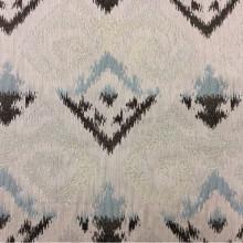 Купить рельефную ткань в восточном стиле с вискозной нитью в Москве, Восточный орнамент в бежевых, голубых, коричневых оттенках, Высота 3 метра, Samarkand, col 19, Италия.