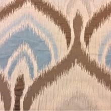 Купить рельефную ткань с вискозной нитью, Стилизованные «дамаски» в бежевых, голубых и коричневых оттенках, Высота 3 метра, Samarkand, col 21, Итальянская ткань.