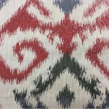 Заказать в Москве рельефную ткань в восточном стиле с вискозной нитью, Восточный орнамент в бежевых, красных, грифельно-чёрных оттенках, Высота 3 метра, Samarkand, col 24, Итальянский каталог ткани для штор на заказ.