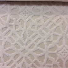 Бархат с набивкой на хлопковой основе, на кремовом фоне стилизованные узоры, 2558/12, Италия.