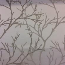 Купить атласную ткань с растительным рисунком из хлопка, Ветви в серовато-бежевых оттенках, 2525/61, Итальянский каталог ткани средней плотности для штор на заказ.