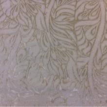 Купить набивной бархат с добавлением хлопка, Густая растительная абстракция в кремовых оттенках, 2539/12, Италия.
