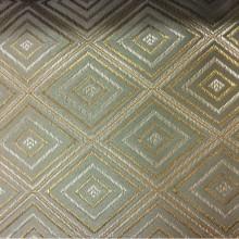 Заказать атласную портьерную ткань с геометрическим рисунком в интернет-магазине, Ромб (5 см) в золотисто-оливковых оттенках, Высота 3 метра, 2384/51, Француский каталог ткани для штор.
