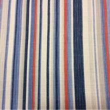 Портьерная ткань «под лён» на заказ в интернет-магазине, Чередование вертикальных красных, синих, белых полос, Ширина 1,50, Marine Stripe, col 1204, Турецкий каталог портьерной ткани для пошива штор на заказ.