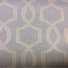 Купить плотную ткань из хлопка в современном стиле в интернет-магазине, На голубом фоне геометрический бежевый рисунок, Super Fiona Coord Donana, col Gris, Испанский каталог портьерной ткани  для штор на заказ.