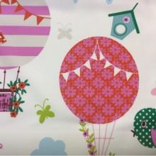 Портьерная ткань из хлопка для детской комнаты на заказ, Super Globo Coor. — B, col Unico 09, Испания.