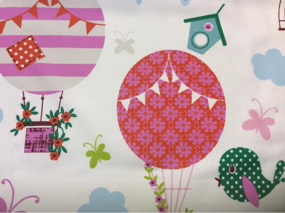 Портьерная ткань из хлопка для детской комнаты на заказ, Super Globo Coor. - B, col Unico 09, Испания.