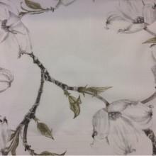 Тюлевая ткань под лён с цветочным орнаментом на заказ в интернет-магазине Москвы, На белом фоне белые цветы, Высота 2,80, Super Visillo Izimi, col Unico, Испанский каталог тюлевой ткани для штор на заказ.