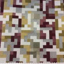Портьерная ткань средней плотности в современном стиле, Высота 2,80, Super Tetris A, col Granate 16, Испания.