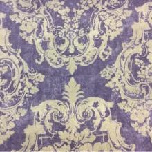 Портьерная плотная ткань в классическом стиле на заказ в интернет-магазине Москвы, На фиолетовом фоне светлые крупные «дамаски», Высота 2,80, Super Alhambra Donana, col Lila, Испанский каталог плотной портьерной ткани для пошива штор на заказ.
