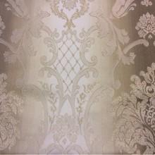Жаккардовая ткань с люрексной нитью и выпуклым эффектом на заказ, Ажурные «дамаски» в бежево-коричневых тонах, Арт: 1401A, col 1, Итальянский каталог ткани для штор на заказ.