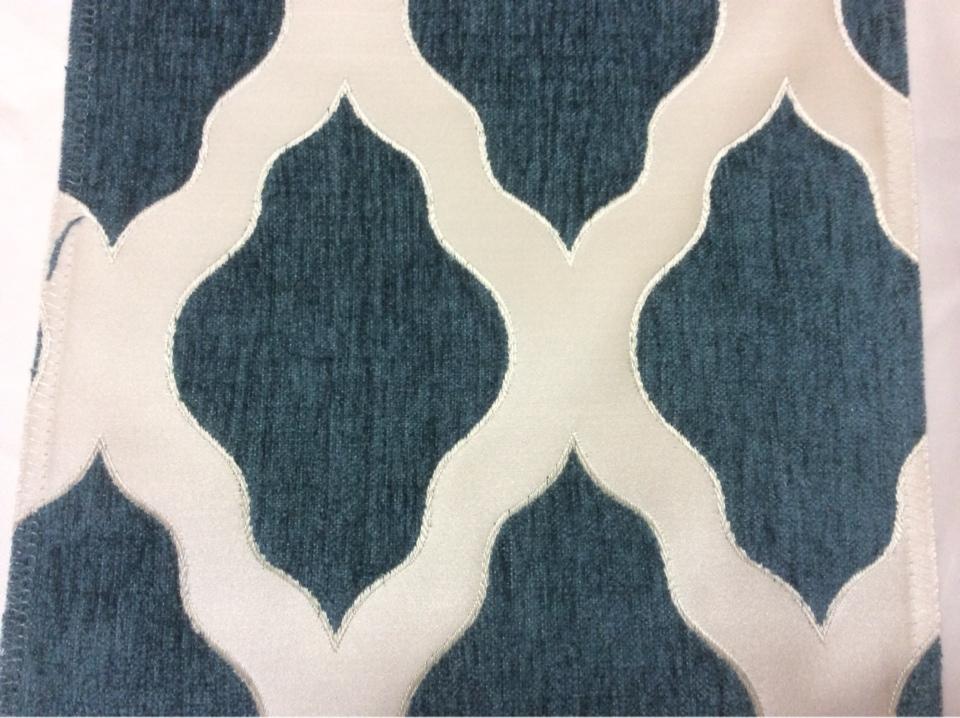 Купить атласную ткань с набивкой из шенилла, Высота 3,0, Moroco, col 03, Итальянский каталог ткани для пошива штор на заказ.
