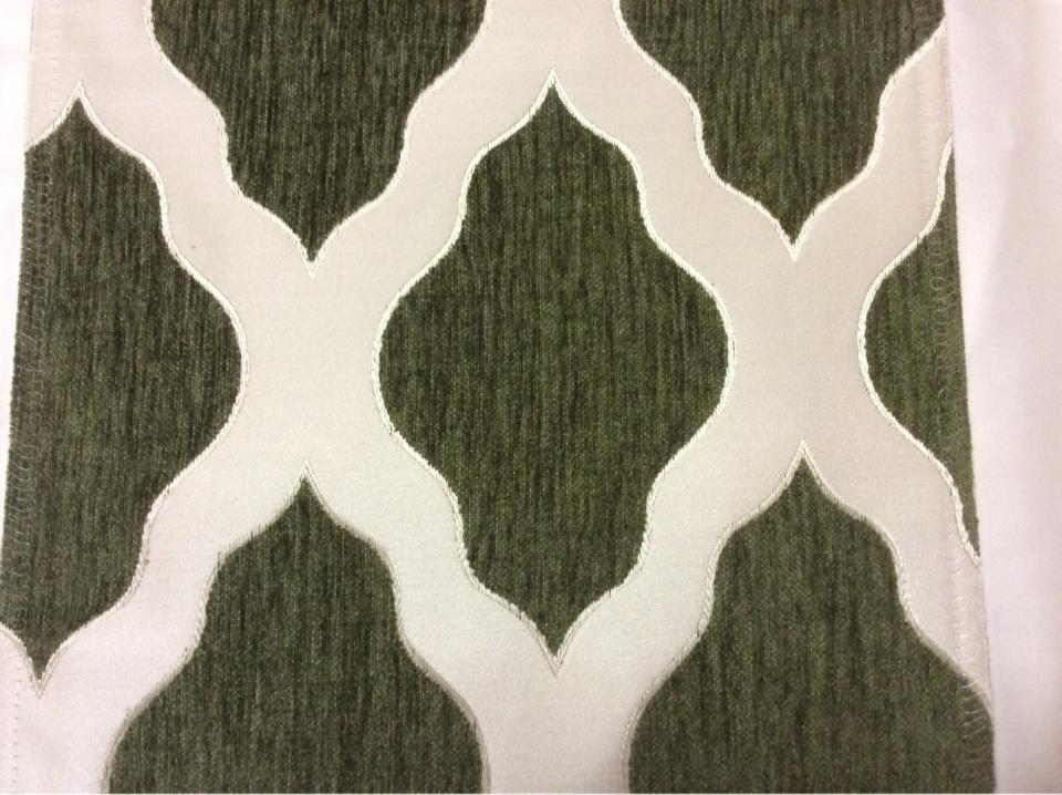 Атласная ткань с набивкой из шенилла, Высота 3,0, Арт: Morocco, col 07, Италия.