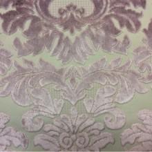 Купить элитную, дорогую, натуральную ткань с бархатной набивкой, На светлом фоне «дамаски» оттенка аметист, Ширина 1,40, Bosco, col 04, Итальянский каталог ткани для пошива штор на заказ.