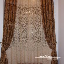 Вариант штор для гостиной