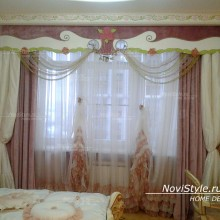 Шторы для спальни в стиле барокко