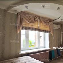 Римские шторы с ламбрекеном в спальню
